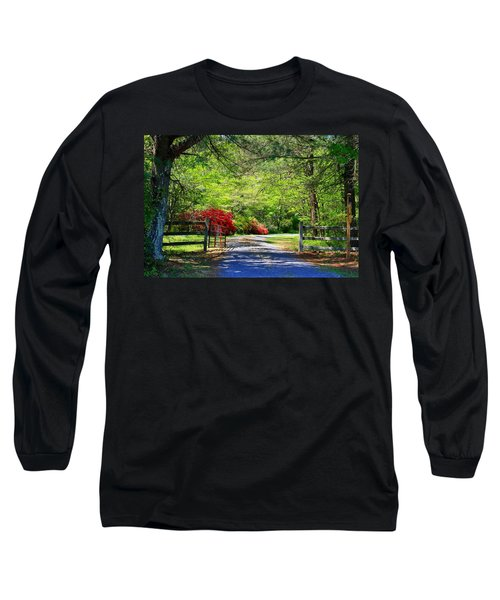 Long Sleeve T-Shirt featuring the photograph Tucked Away by Kathryn Meyer