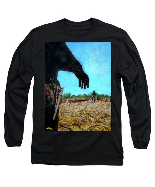 Long Sleeve T-Shirt featuring the painting Tuco  by Seth Weaver