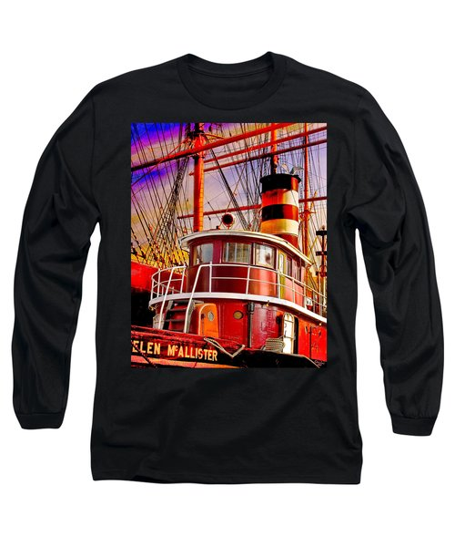 Long Sleeve T-Shirt featuring the photograph Tugboat Helen Mcallister by Chris Lord
