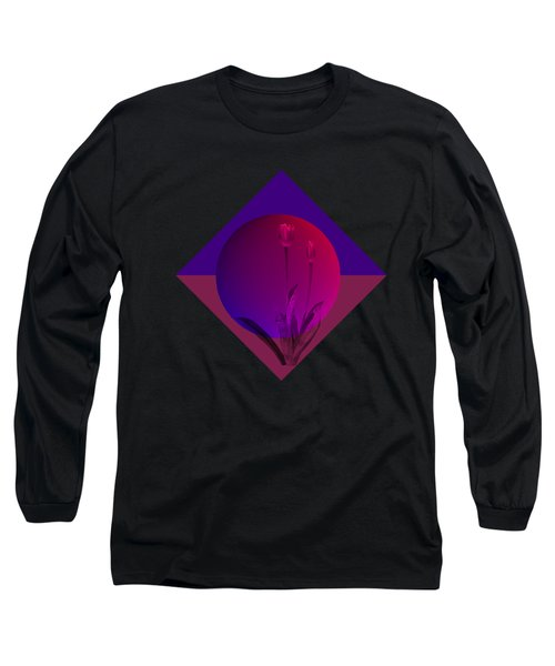 Tulip Abstract Long Sleeve T-Shirt by Nancy Pauling