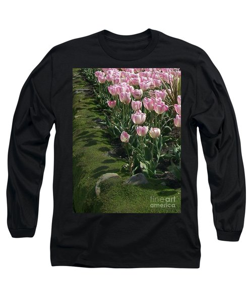 Long Sleeve T-Shirt featuring the photograph Tulip Parade by Jolanta Anna Karolska