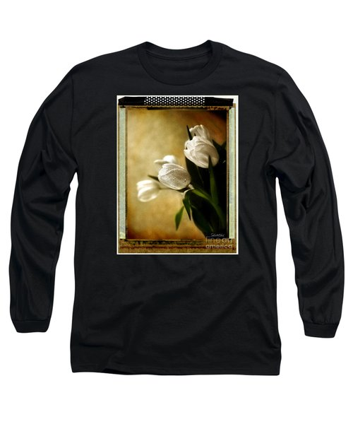 Tulip Side Sepia Long Sleeve T-Shirt by Linda Olsen