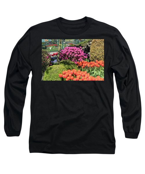 Tulips And Rhodies Long Sleeve T-Shirt