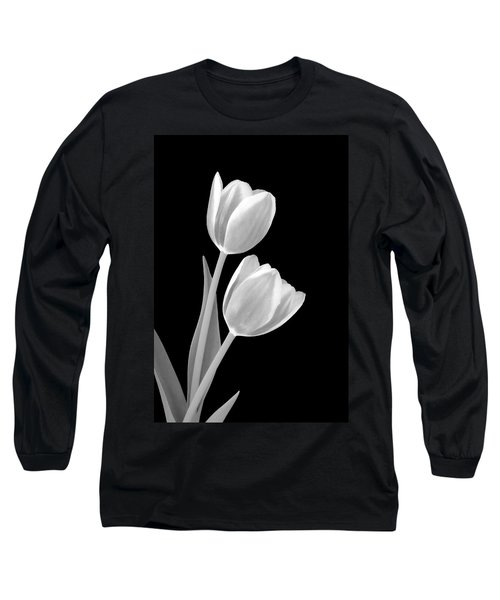 Tulips In Black And White Long Sleeve T-Shirt