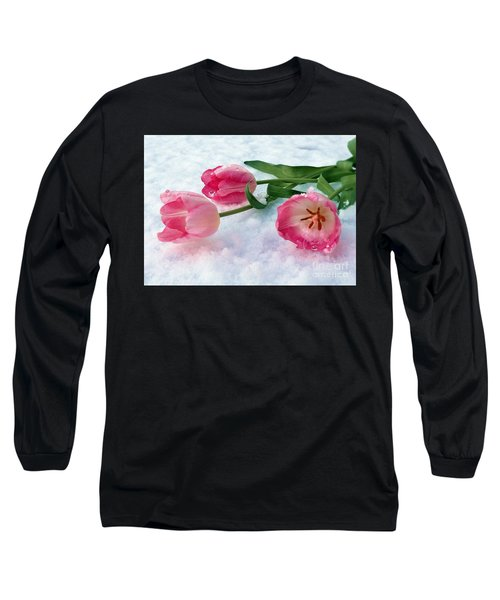 Tulips In Snow Long Sleeve T-Shirt
