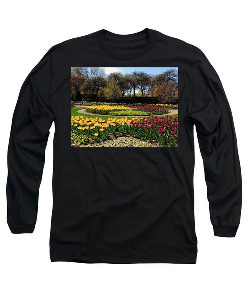Tulips In The Spring Long Sleeve T-Shirt by Teresa Schomig