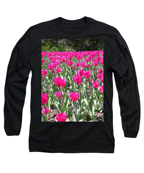 Long Sleeve T-Shirt featuring the photograph Tulips by Mary-Lee Sanders