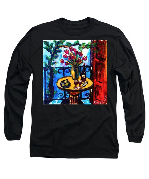 Tulips Wine And Pears Long Sleeve T-Shirt