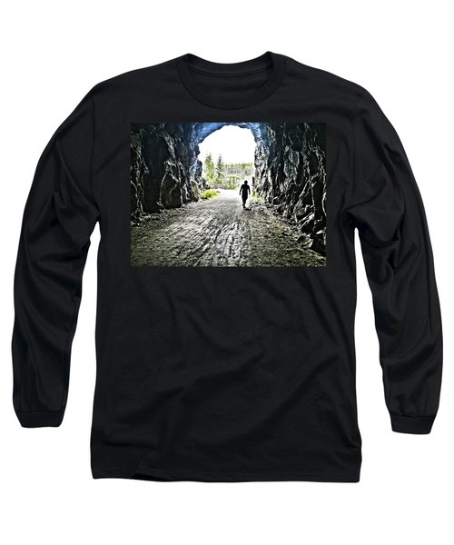 Tunnel Vision Long Sleeve T-Shirt by Nadine Dennis
