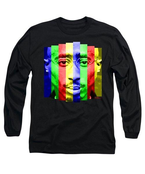 Tupac Stripes  Long Sleeve T-Shirt
