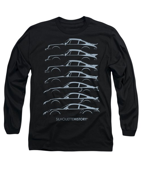 Turbo Sports Car Silhouettehistory Long Sleeve T-Shirt