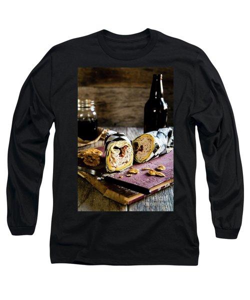 Long Sleeve T-Shirt featuring the photograph Turkey Bacon Wrap 2 by Deborah Klubertanz