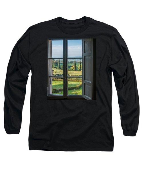 Tuscany Out My Window Long Sleeve T-Shirt
