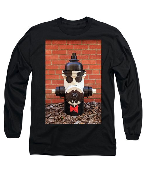 Long Sleeve T-Shirt featuring the photograph Tuxedo Hydrant by James Eddy