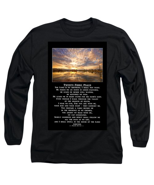 Twenty-third Psalm Prayer Long Sleeve T-Shirt