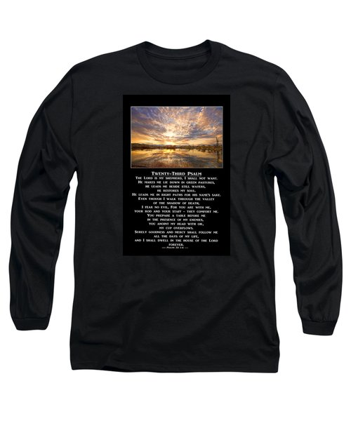 Twenty-third Psalm Prayer Long Sleeve T-Shirt