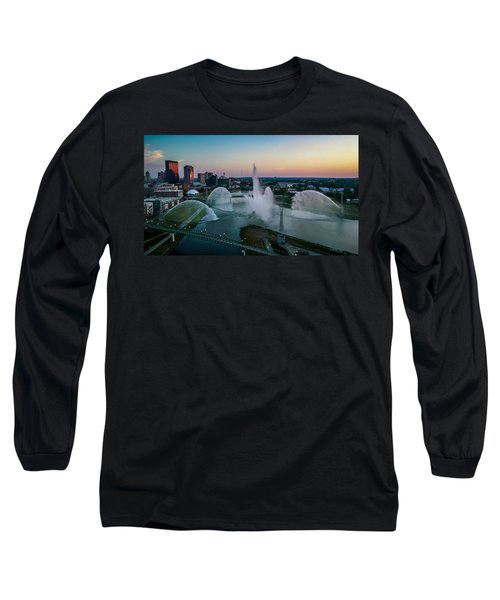 Twilight At The Fountains Long Sleeve T-Shirt