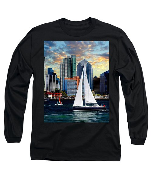 Twilight Harbor Curise1 Long Sleeve T-Shirt