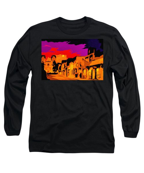 Twilight On The Plaza Santa Fe Long Sleeve T-Shirt