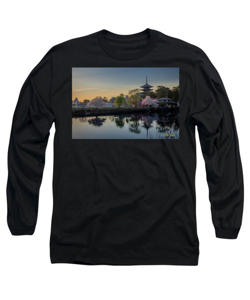 Long Sleeve T-Shirt featuring the photograph Twilight Temple by Rikk Flohr