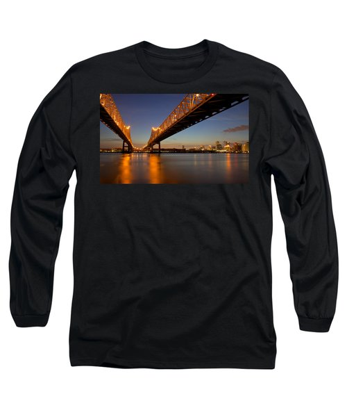 Long Sleeve T-Shirt featuring the photograph Twin Bridges by Evgeny Vasenev