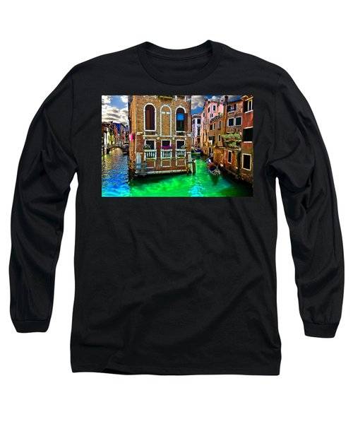 Twin Canals Long Sleeve T-Shirt by Harry Spitz