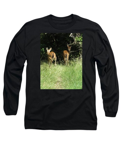 Long Sleeve T-Shirt featuring the photograph Twin Fawns by Phyllis Beiser