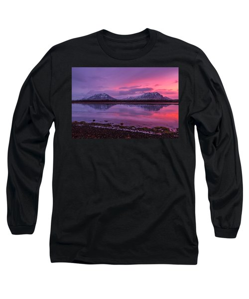 Twin Mountain Sunrise Long Sleeve T-Shirt