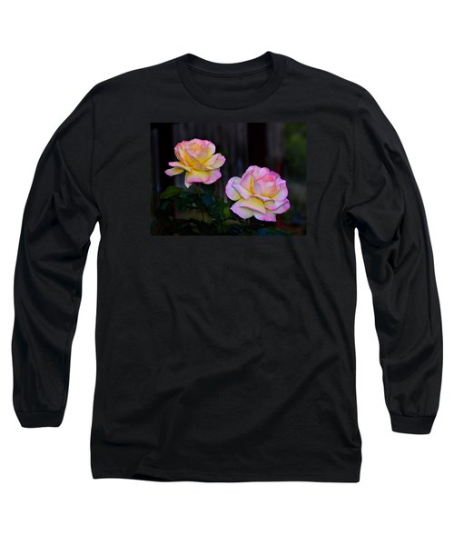 Twin Roses Long Sleeve T-Shirt by Josephine Buschman
