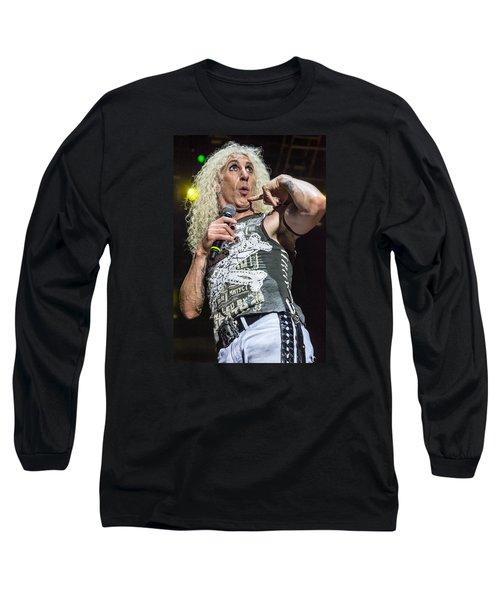 Twisted Sister - Dee Snider Long Sleeve T-Shirt by Stefan Nielsen