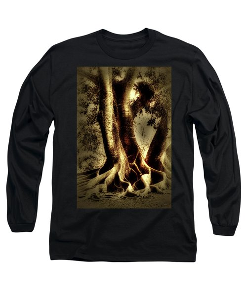 Long Sleeve T-Shirt featuring the photograph Twisted Trees by Tom Prendergast