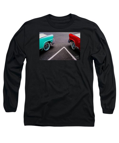 Long Sleeve T-Shirt featuring the photograph Two 1958 Ford Crown Victorias by M G Whittingham