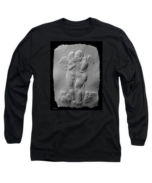 Long Sleeve T-Shirt featuring the relief Two Angels by Suhas Tavkar