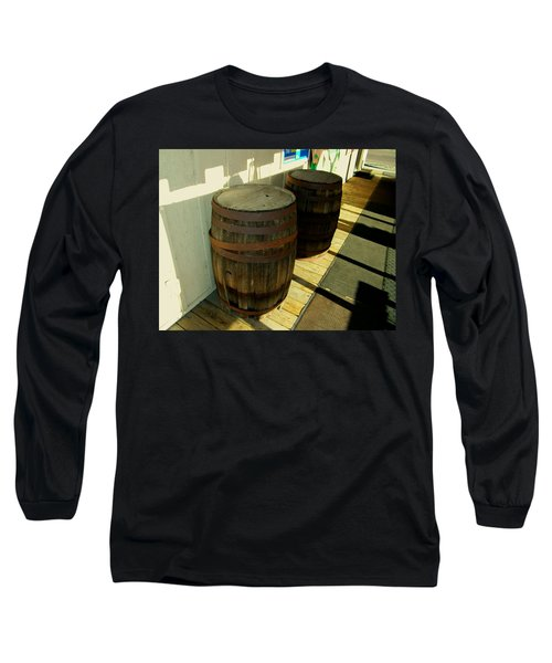 Long Sleeve T-Shirt featuring the photograph Two Barrels by Lenore Senior