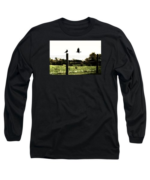 Two Birds Long Sleeve T-Shirt by Carlee Ojeda