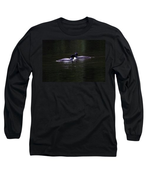 Two Common Loons At Sunset Long Sleeve T-Shirt
