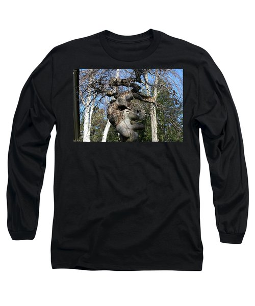 Two Elephants In A Tree Long Sleeve T-Shirt