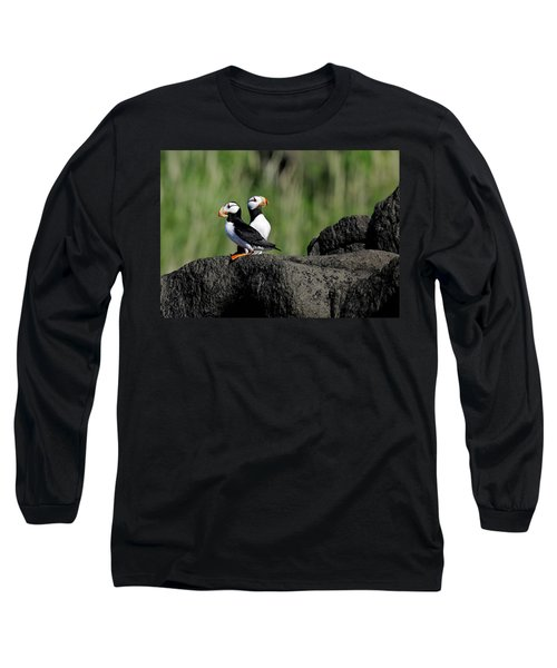 Two Horned Puffins Long Sleeve T-Shirt