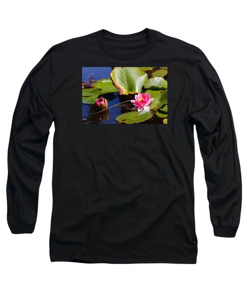 Long Sleeve T-Shirt featuring the photograph Two Lilies by Richard Patmore