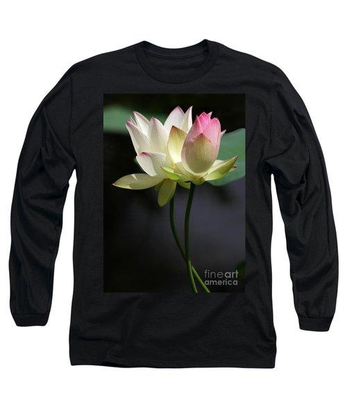 Two Lotus Flowers Long Sleeve T-Shirt