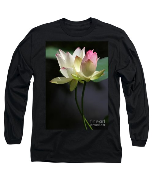 Two Lotus Flowers Long Sleeve T-Shirt