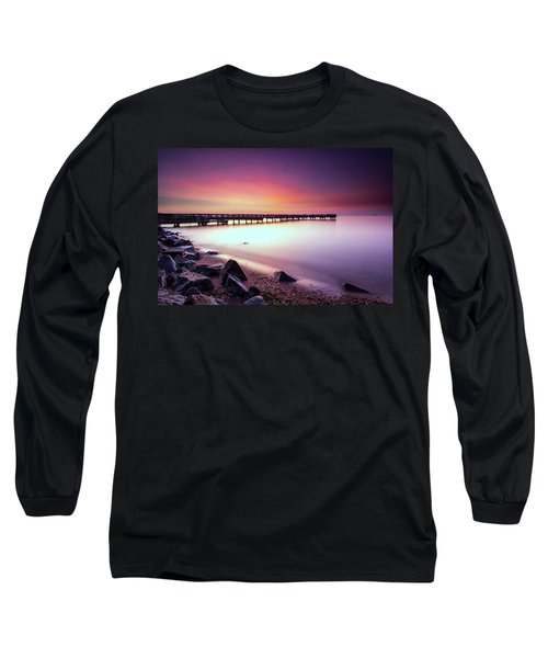Two Minutes Of Blue Hour   Long Sleeve T-Shirt by Edward Kreis