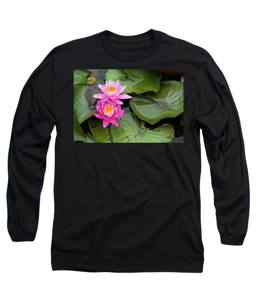 Two Pink Lilies Long Sleeve T-Shirt