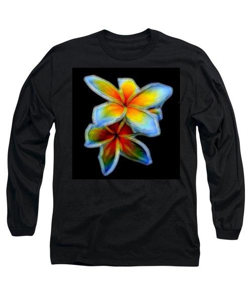 Two Plumerias Long Sleeve T-Shirt