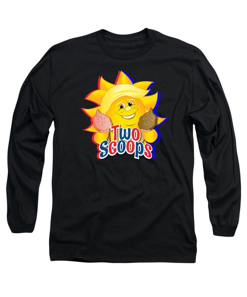Two Scoops  Long Sleeve T-Shirt by Eye Candy Creations