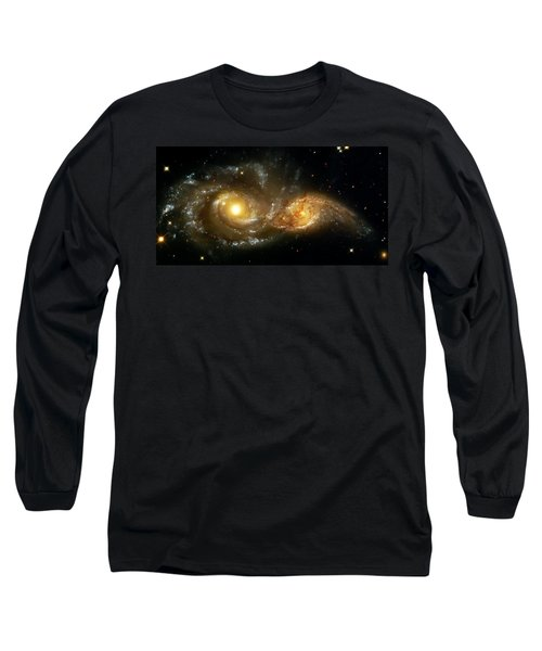 Two Spiral Galaxies Long Sleeve T-Shirt by Jennifer Rondinelli Reilly - Fine Art Photography
