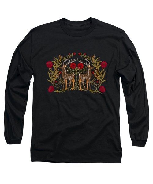 Two Stags Protecting The Dark Forest Gate Long Sleeve T-Shirt