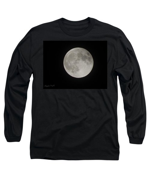 Two-tone Gray Moon Long Sleeve T-Shirt