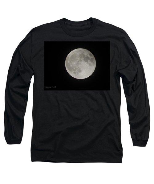 Two-tone Gray Moon Long Sleeve T-Shirt