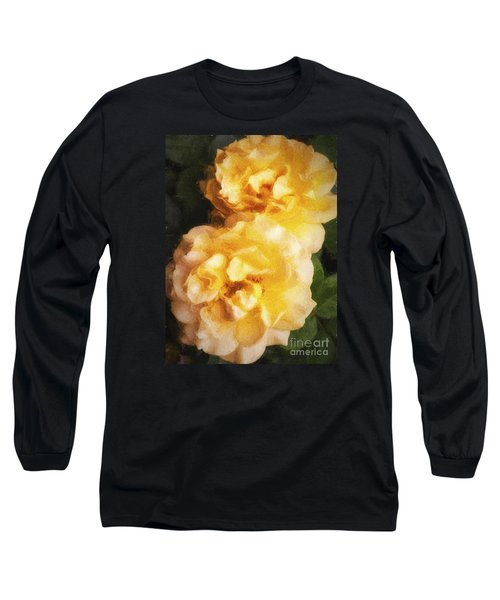 Two Yellow Roses  ... Long Sleeve T-Shirt by Chuck Caramella